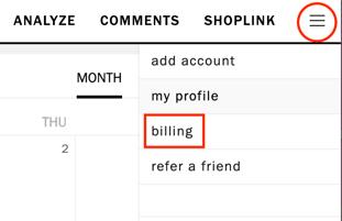 Billing Cancel