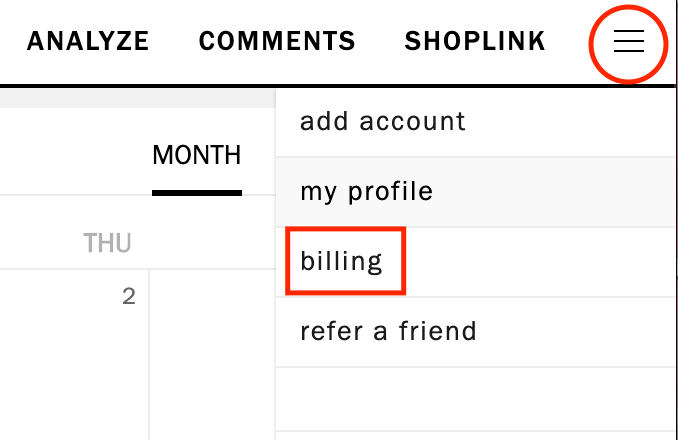 Billing Cancel